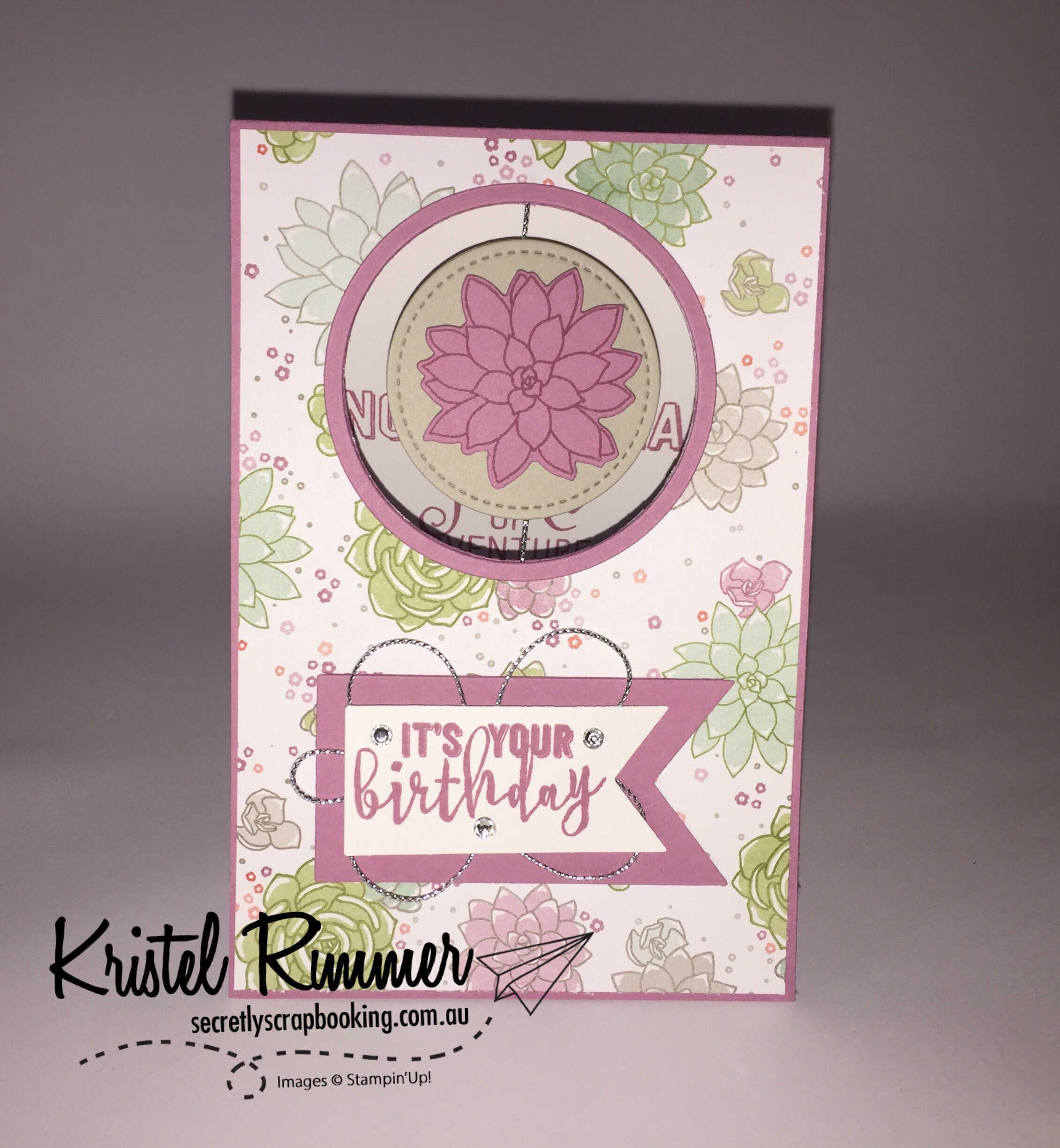 Front - Oh So Succulent Card