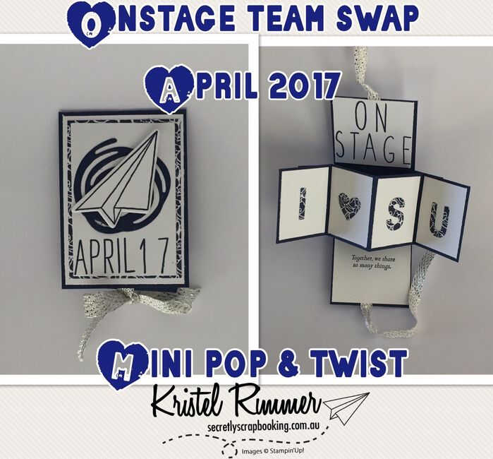 On Stage Team Swap - Mini Pop & Twist Card