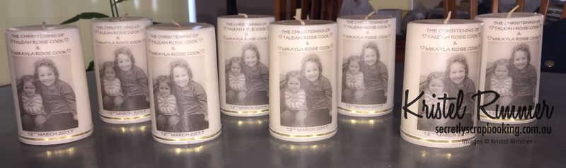 Christening Gift Candles - Eight