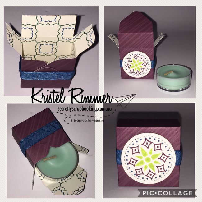 Tea Candle Box Collage of Angles using Eastern Palace Bundle