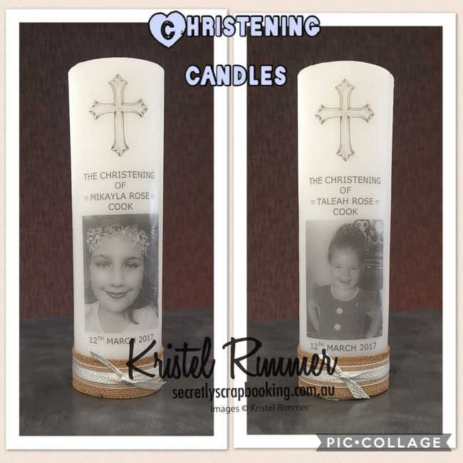 Christening Day Candles - Two, One Per Child