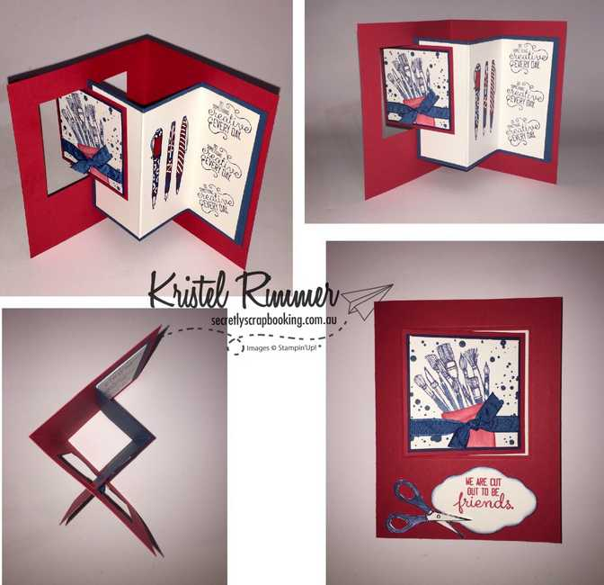 Pop Out Window Fun Fold Card Collage