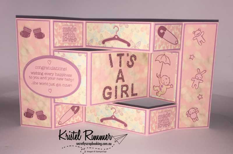 Baby Girl Tri-shutter Card Expanded