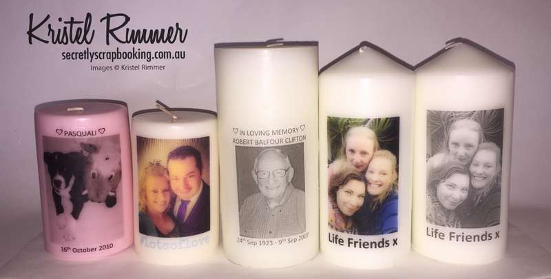 Various Example Decorated Candles - Secretly Scrapbooking (Bunbury, WA)