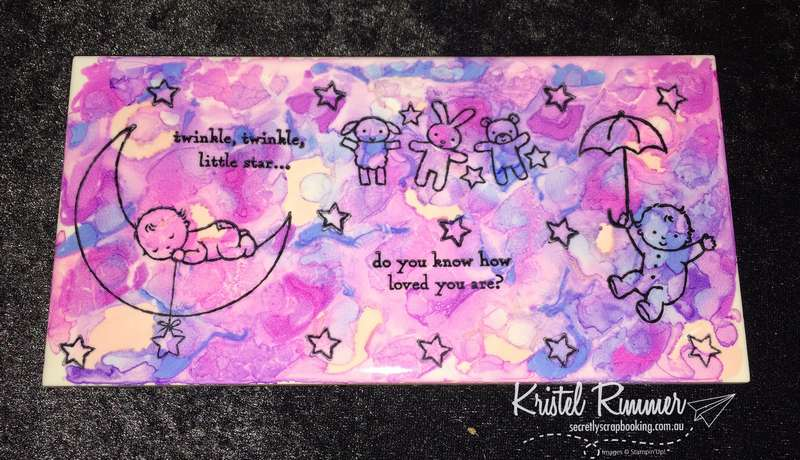 Baby Themed Medium Width Tile (Stampin' Up!) - Secretly Scrapbooking (Bunbury, WA)