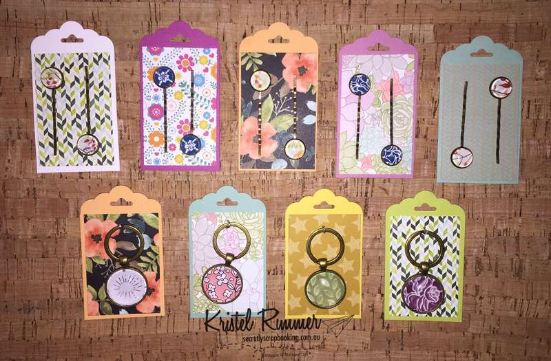 Packaged Hairpins And Keyrings (Stampin' Up!) - Secretly Scrapbooking (Bunbury, WA)