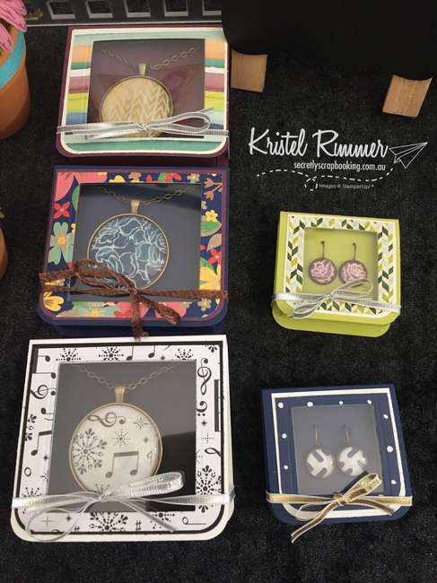 Packaged Necklaces & Earrings (Stampin' Up!) - Secretly Scrapbooking (Bunbury, WA)