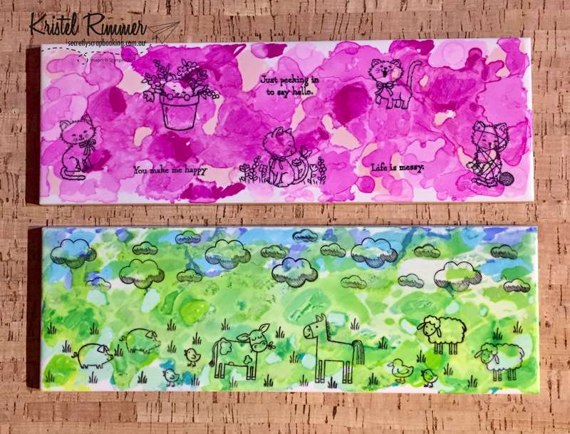 Cat And Farm Animal Themed Large Width Tile (Stampin' Up!) - Secretly Scrapbooking (Bunbury, WA)
