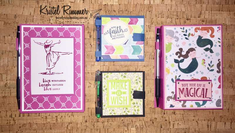Female Themed Large Notebooks And Post-It Notepads (Stampin' Up!) - Secretly Scrapbooking (Bunbury, WA)