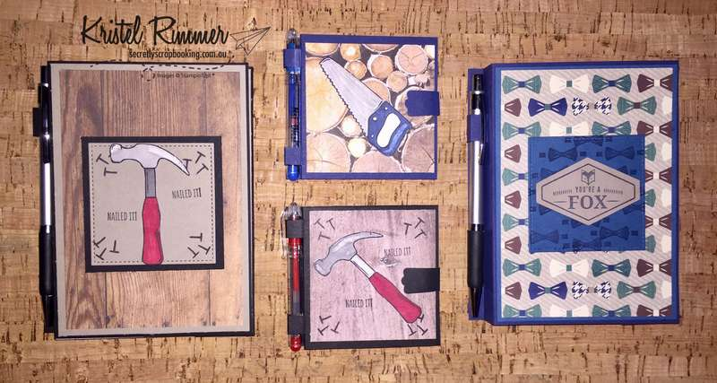 Male Themed Large Notebooks And Post-It Notepads (Stampin' Up!) - Secretly Scrapbooking (Bunbury, WA)