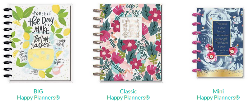 Happy Planner Sizes - Secretly Scrapbooking (Bunbury, Western Australia)