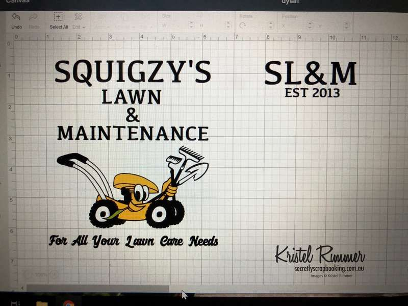 Squigzy's Lawn & Maintenance Logos In Design - Secretly Scrapbooking (Bunbury, WA)